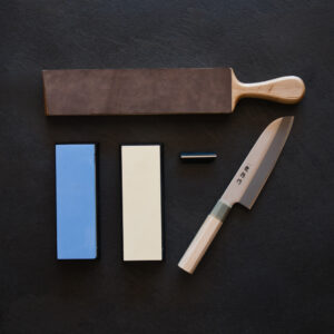 Sharpening Starter Set With Ryutoko Santoku 165mm
