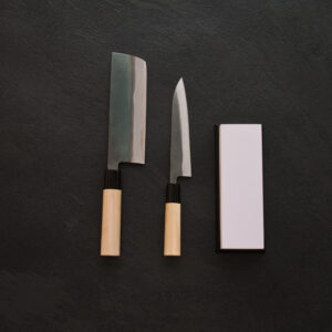 Tojiro Shirogami Set – Nakiri 165mm – Petty 150mm – Whetstone 1000/3000