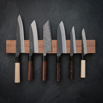 Slant Wood Walnut Magnetic Knife Holder
