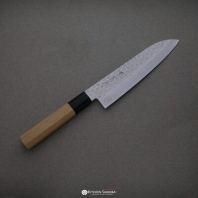 Sakai Kikumori – Hammered Damascus  – Wa-Santoku 180mm