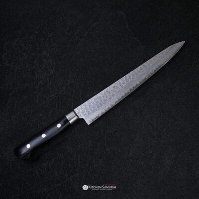 Sakai Kikumori – VG10 Hammered Damascus Sujihiki 240mm